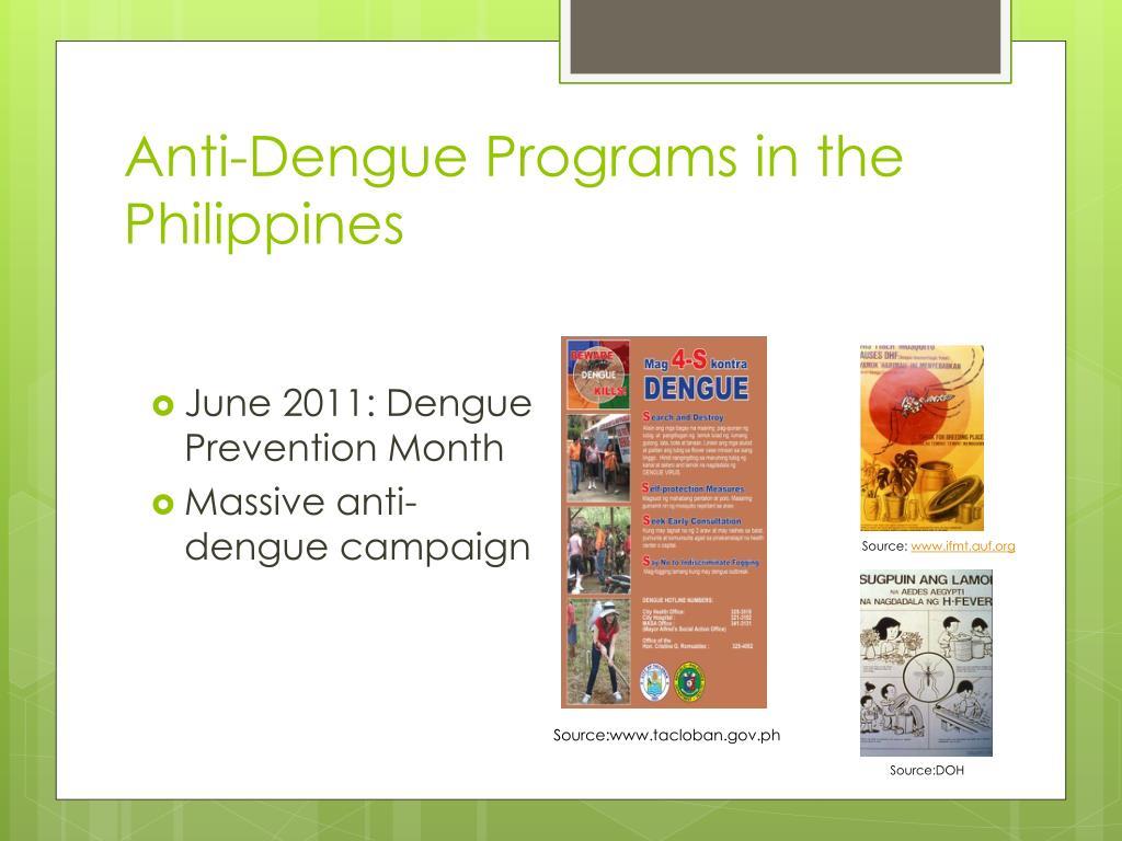 Anti-Dengue Programs in the Philippines