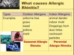 what causes allergic rhinitis