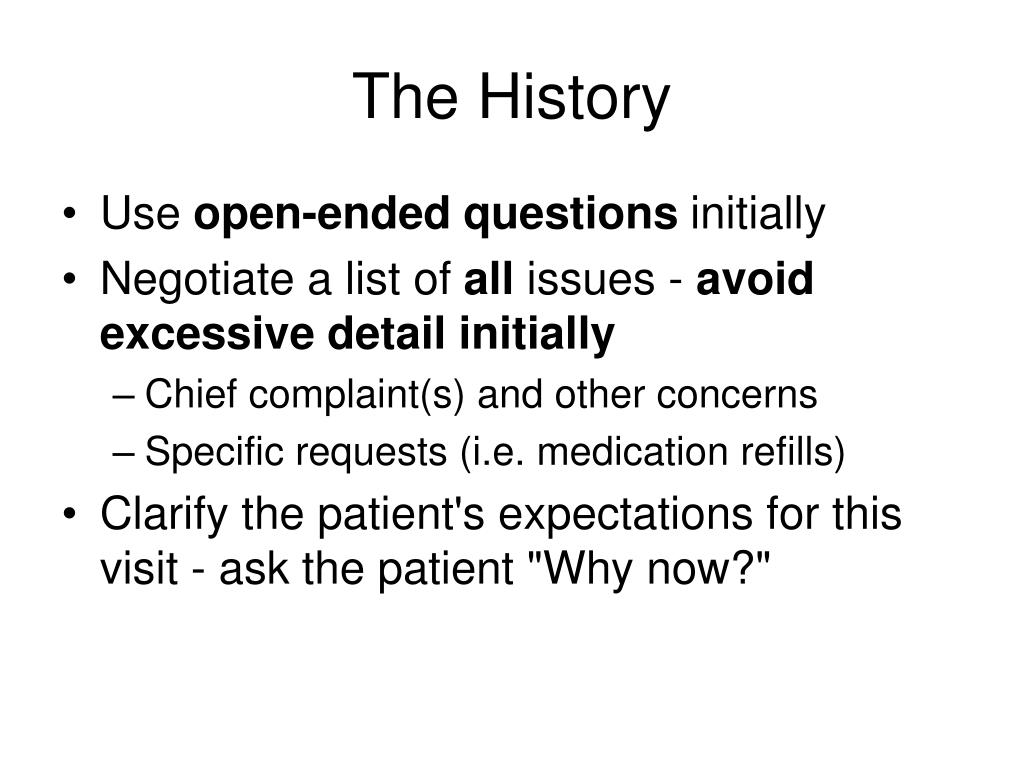 PPT - The History and Physical Exam PowerPoint Presentation - ID:66128
