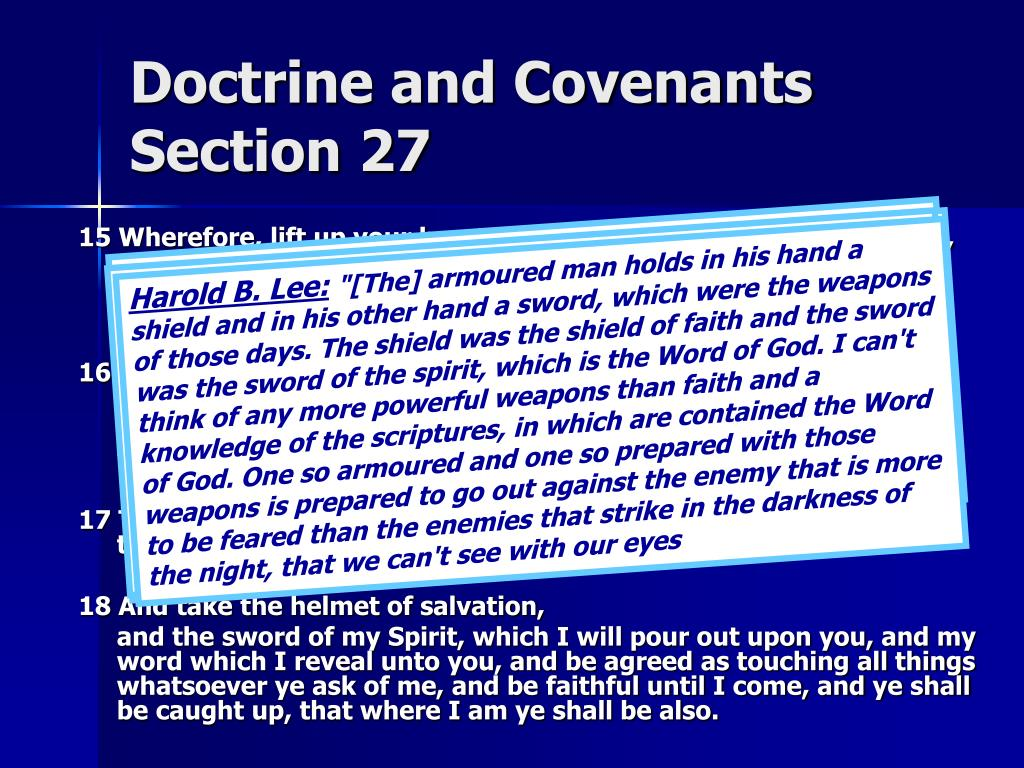 Doctrine and Covenants  Section 27