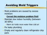 avoiding mold triggers