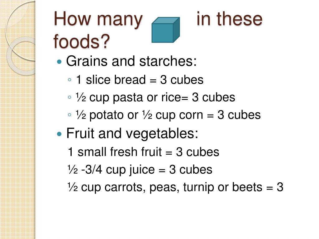 How many          in these foods?