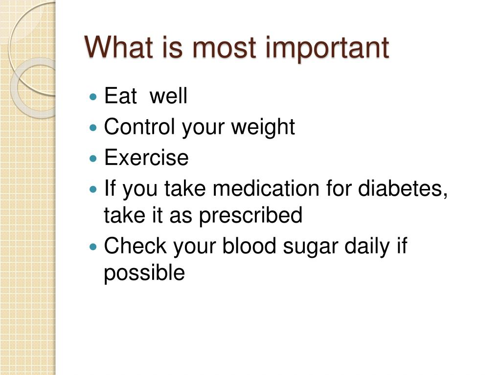 What is most important