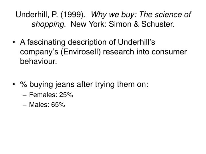 why we buy thescience of shopping