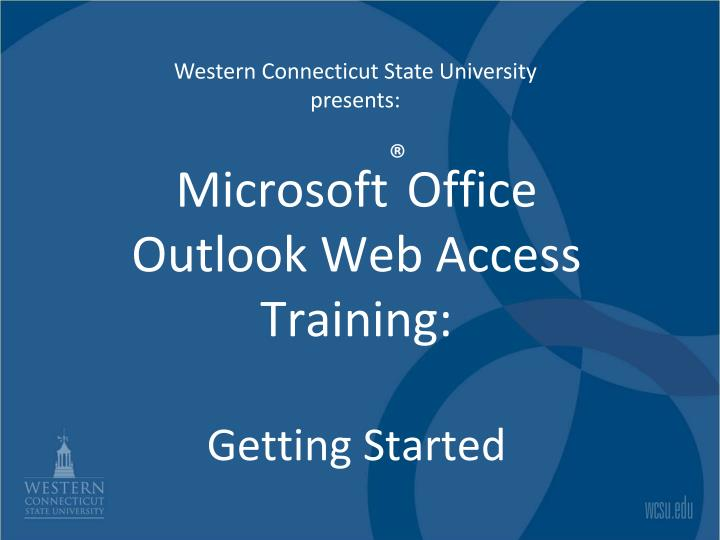 microsoft office outlook web access training getting started n.