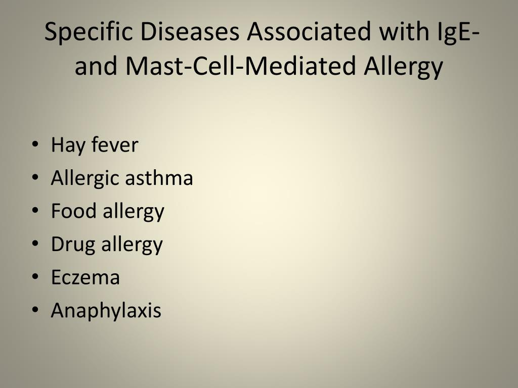 Specific Diseases Associated with