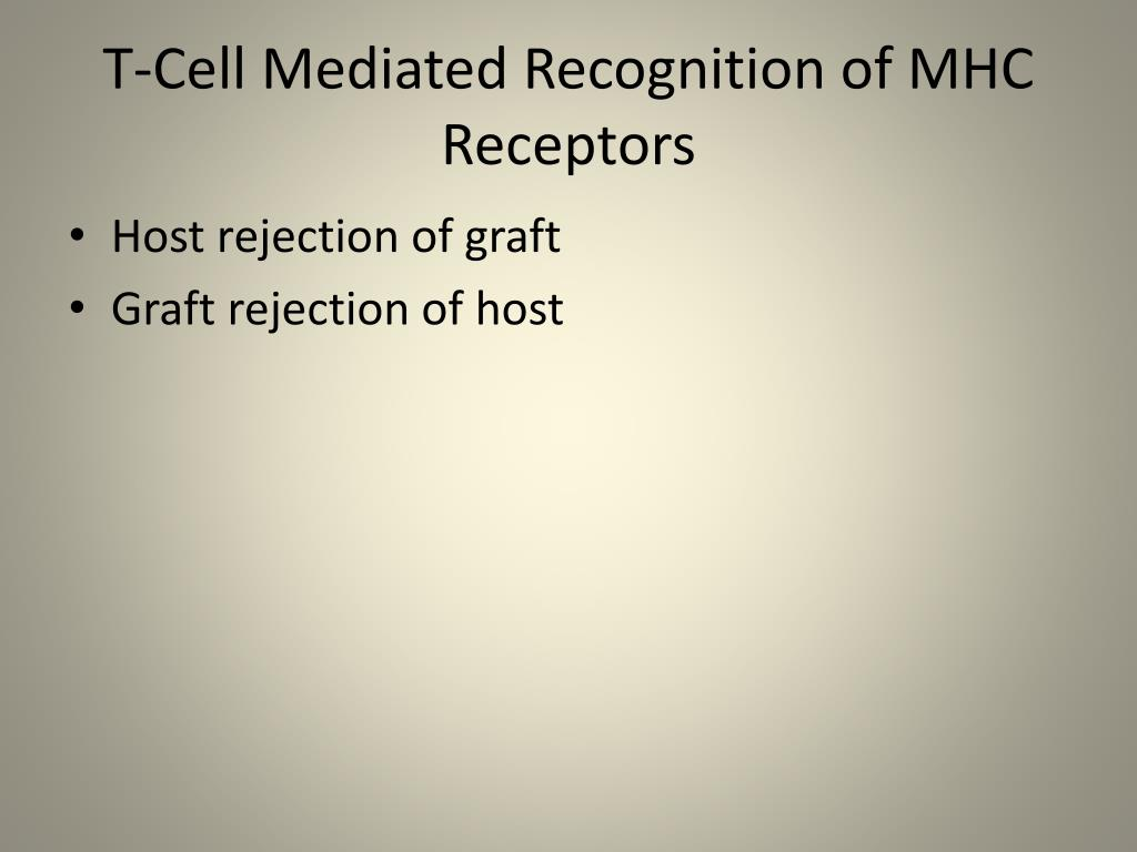 T-Cell Mediated Recognition of MHC Receptors
