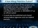 a new allergy reactions subset