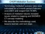 chdr mediation success