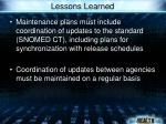 lessons learned53