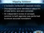 mapping validation