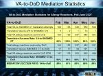 va to dod mediation statistics