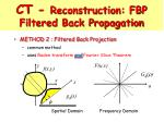 ct reconstruction fbp filtered back propagation