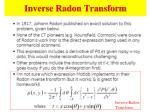 inverse radon transform