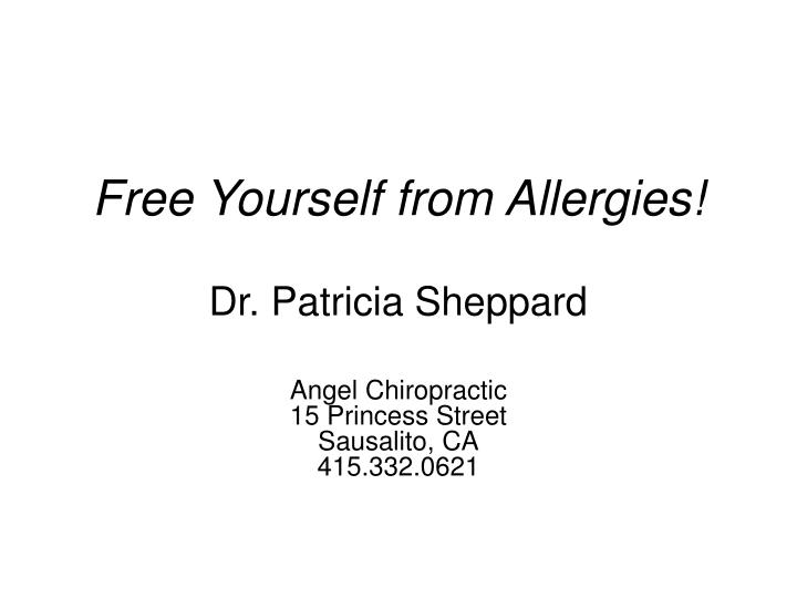 free yourself from allergies n.
