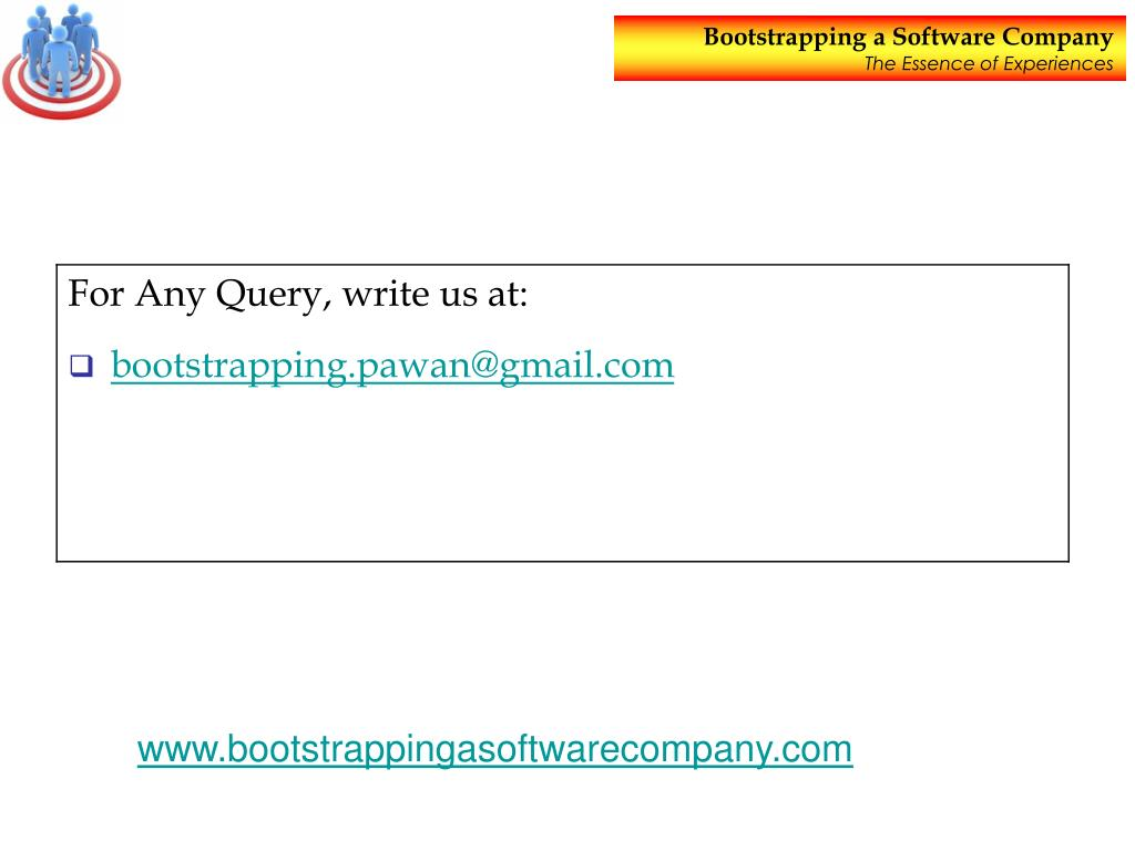 PPT - Bootstrapping a Software Company PowerPoint Presentation - ID