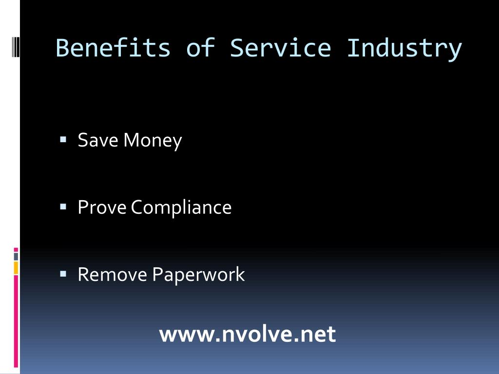 Benefits of Service Industry