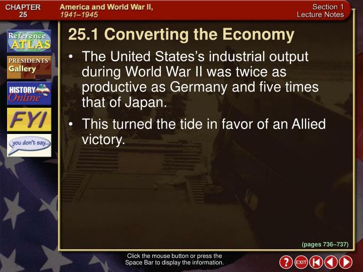 25.1 Converting the Economy