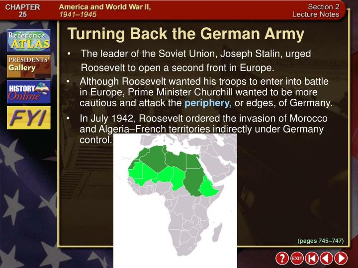 Turning Back the German Army