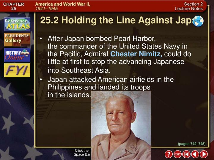 25.2 Holding the Line Against Japan