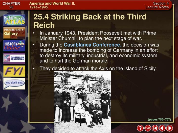 25.4 Striking Back at the Third Reich