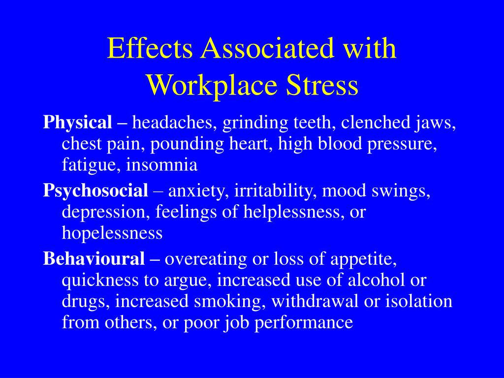 Effects Associated with