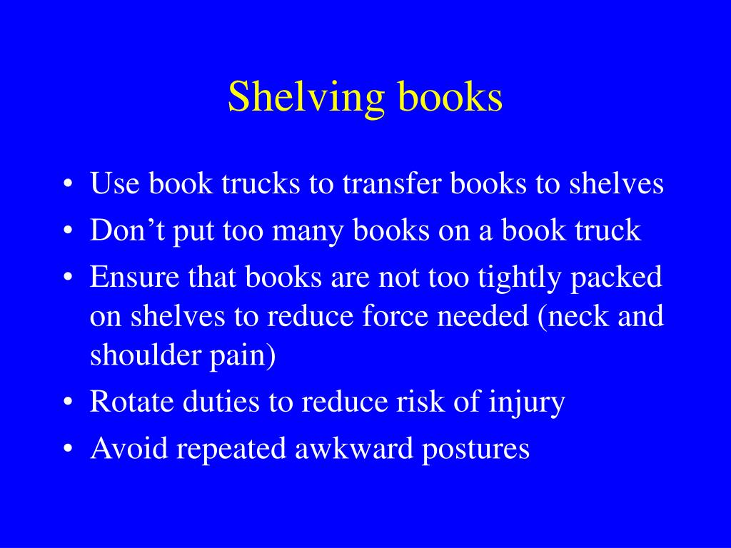 Shelving books