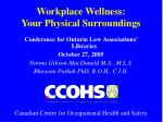 workplace wellness your physical surroundings