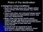 risks of the destination18