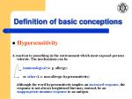 definition of basic conceptions