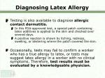 diagnosing latex allergy21