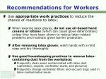recommendations for workers29