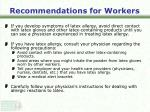 recommendations for workers31