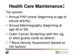 health care maintenance29
