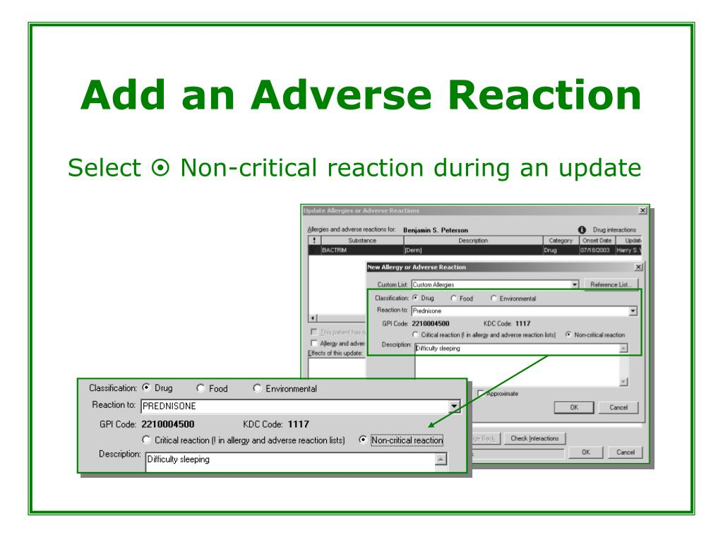 Add an Adverse Reaction