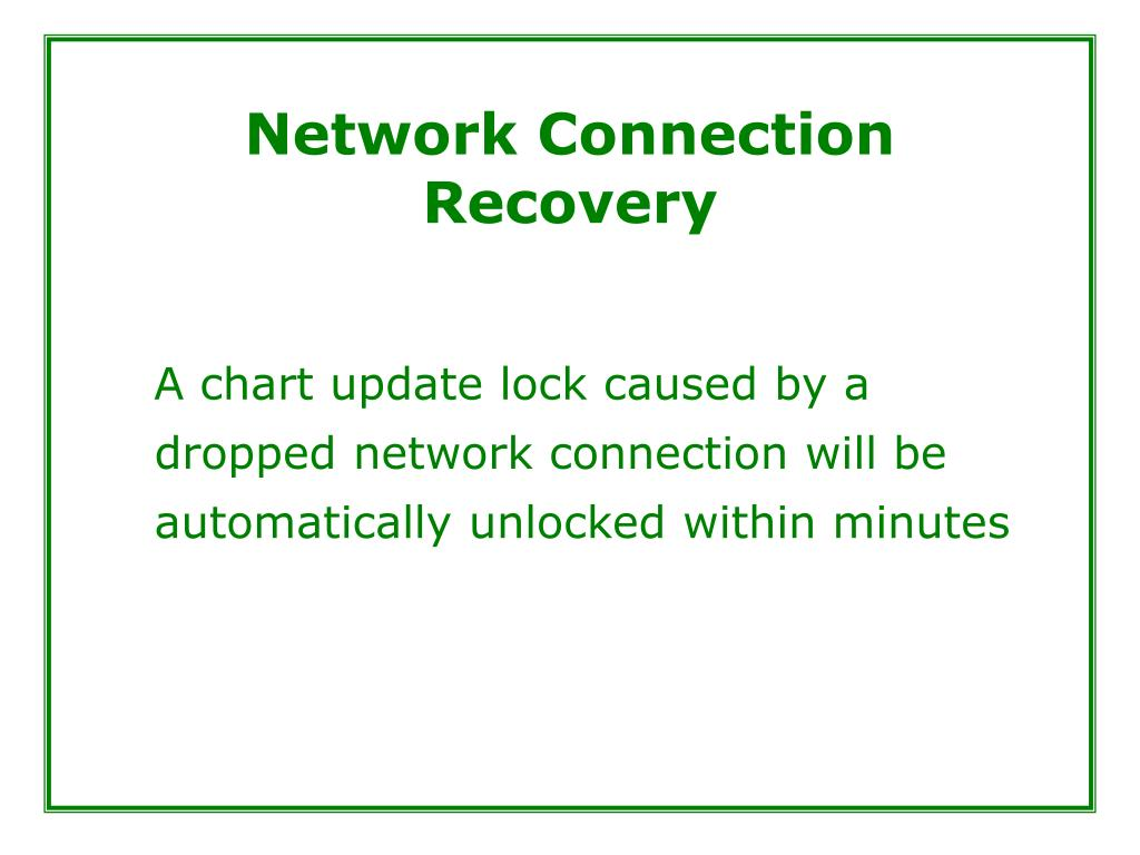 Network Connection Recovery