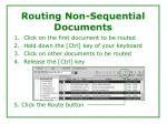 routing non sequential documents