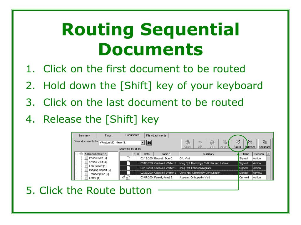 Routing Sequential Documents