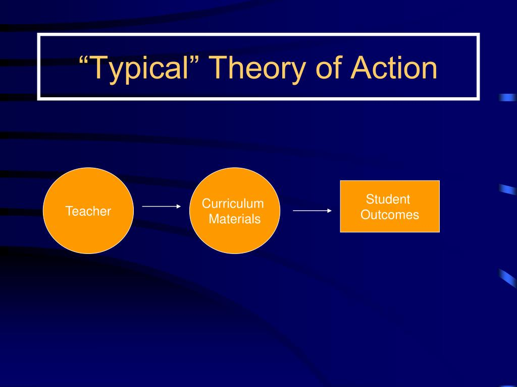 """Typical"" Theory of Action"