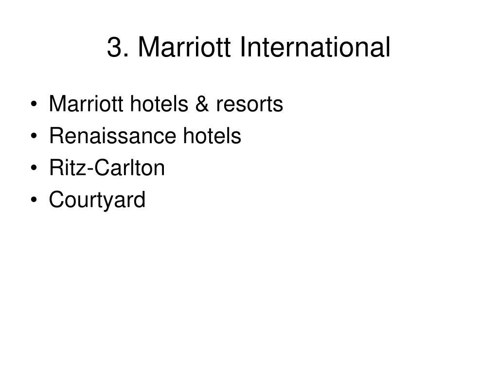 3. Marriott International