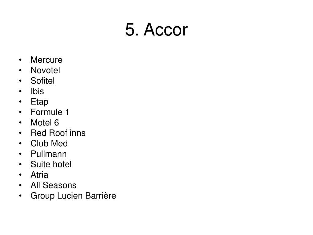 5. Accor