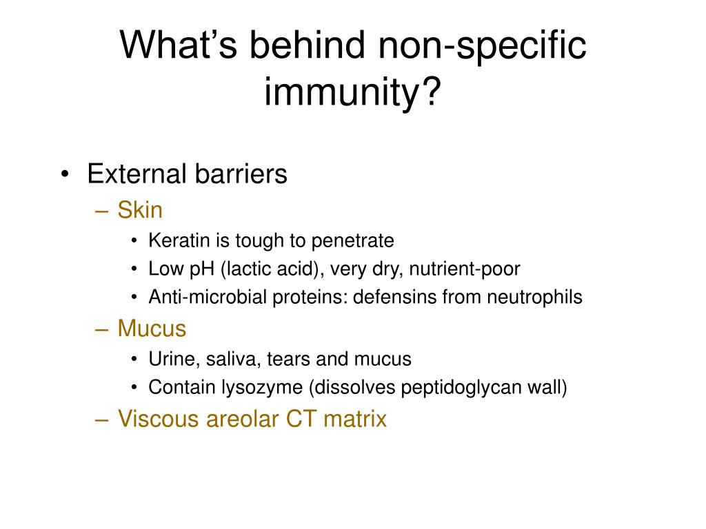 What's behind non-specific immunity?