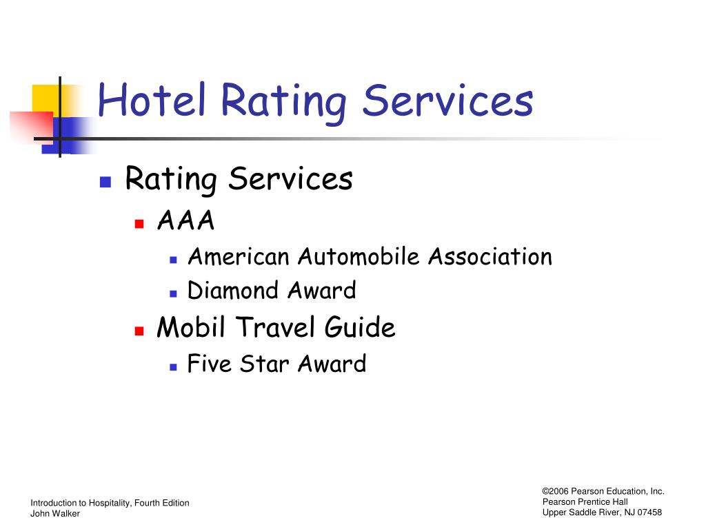 Hotel Rating Services