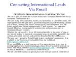 contacting international leads via email