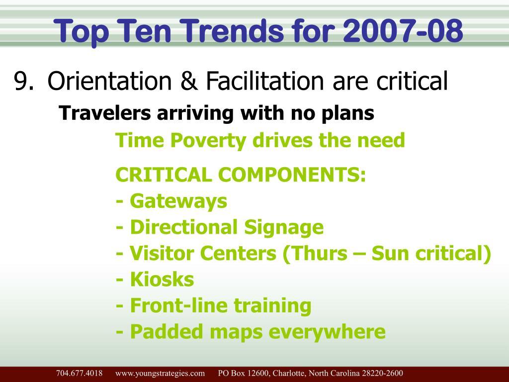 Top Ten Trends for 2007-08