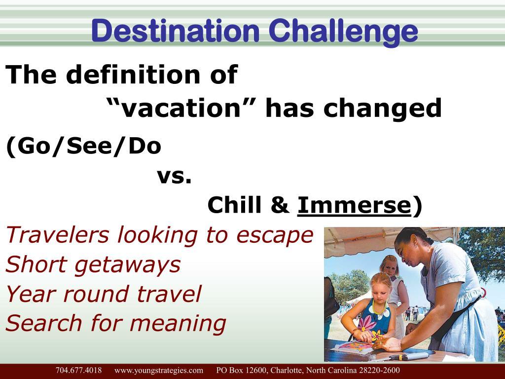 Destination Challenge