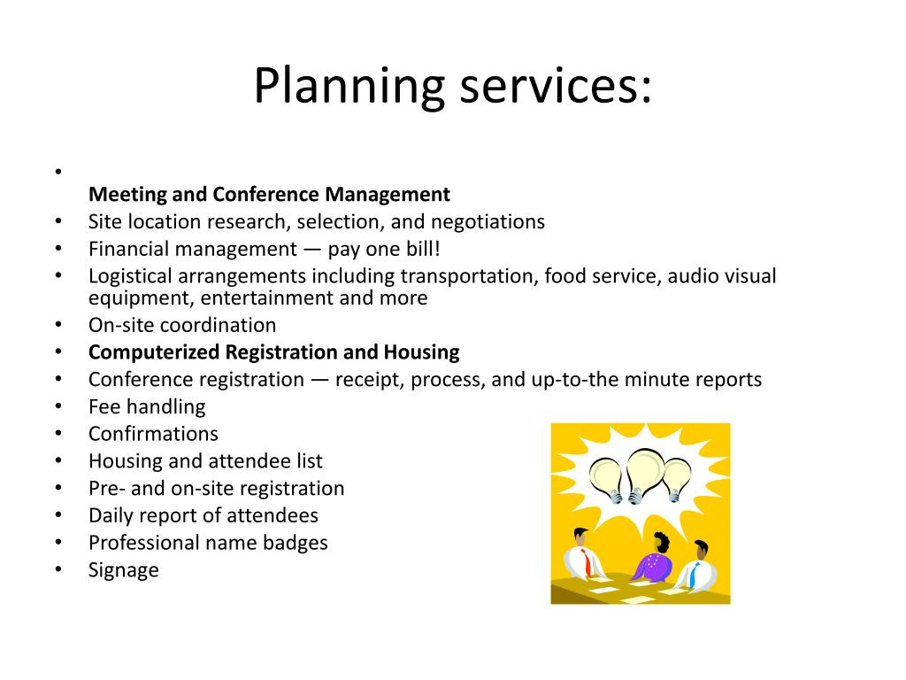 Planning services: