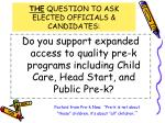the question to ask elected officials candidates