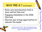why pre k continued