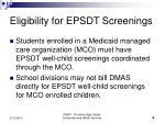 eligibility for epsdt screenings6